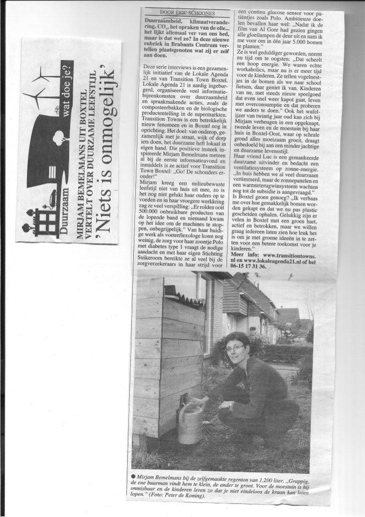 Deze serie artikelen verscheen in 2010 in Brabants Centrum (weekblad in Boxtel) en werdverzorgd door Eric Schoones (tekst)...