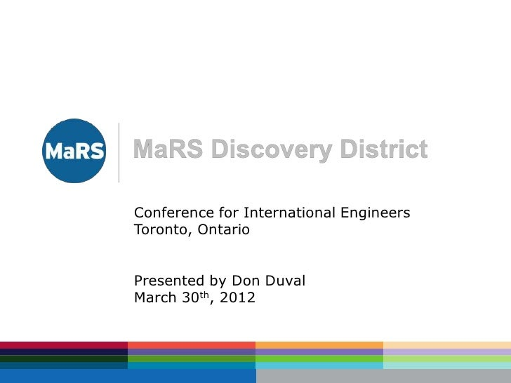 Conference for International EngineersToronto, OntarioPresented by Don DuvalMarch 30th, 2012