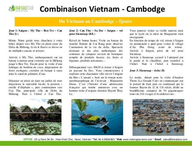 CombinaisonVietnam‐Cambodge                                                  Du Vietnam a...