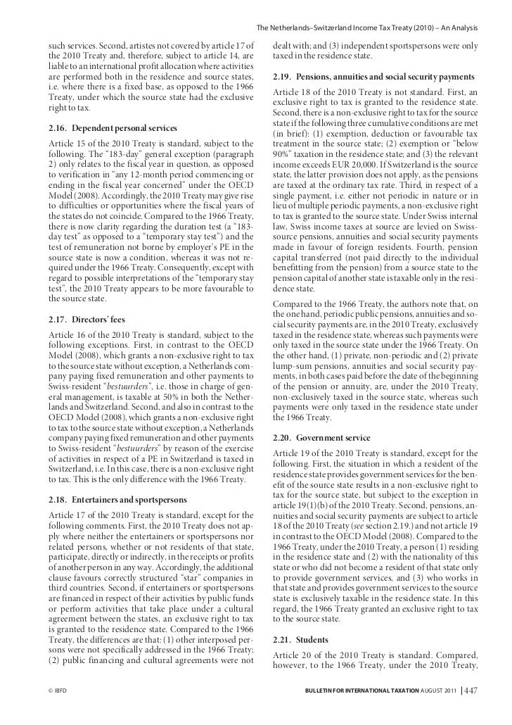 an analysis of treaty Kpmg report: initial analysis of 2016 us model treaty | kpmg | global.