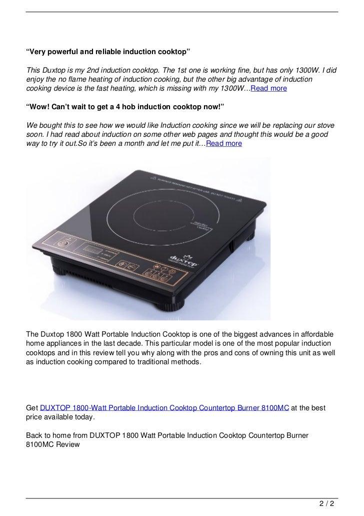 watch watt induction burner cooktop countertop portable countertops duxtop youtube top reviews