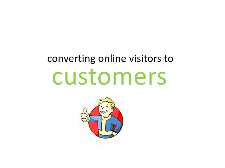 converting online visitors to customers