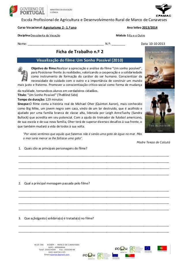 Escola Profissional de Agricultura e Desenvolvimento Rural de Marco de Canaveses Curso Vocacional: Agroturismo 2 - 1.º ano...