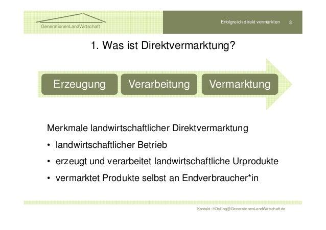 Erfolgreich direkt vermarkten Slide 3
