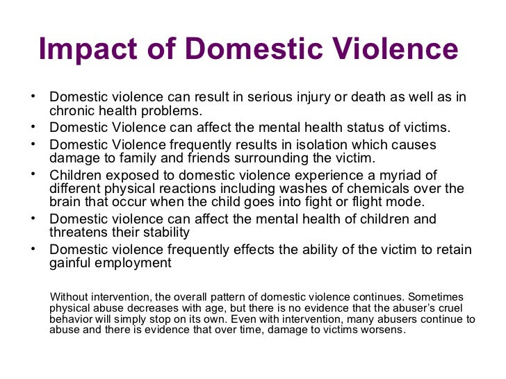 how does domestic violence affect the family and society