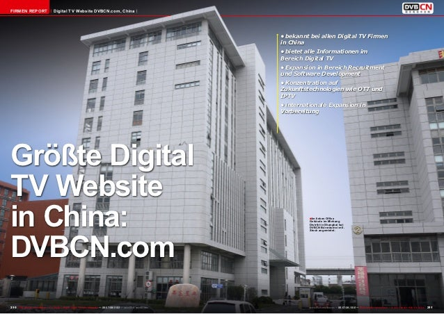 Firmen Report                        Digital TV Website DVBCN.com, China                                                  ...