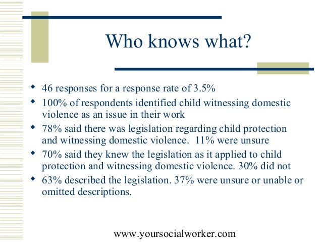 analysis of child witness to domestic Children's witnessing of adult domestic violence  such as child gender, age,  how often do children witness domestic violence.