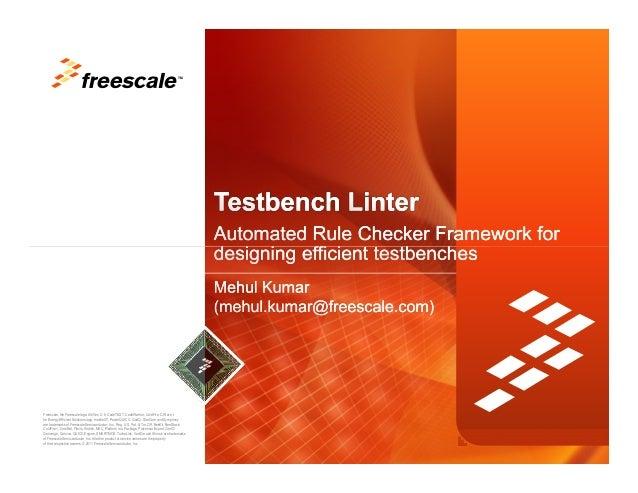 TMFreescale, the Freescale logo, AltiVec, C-5, CodeTEST, CodeWarrior, ColdFire, C-Ware, the Energy Efficient Solutions log...