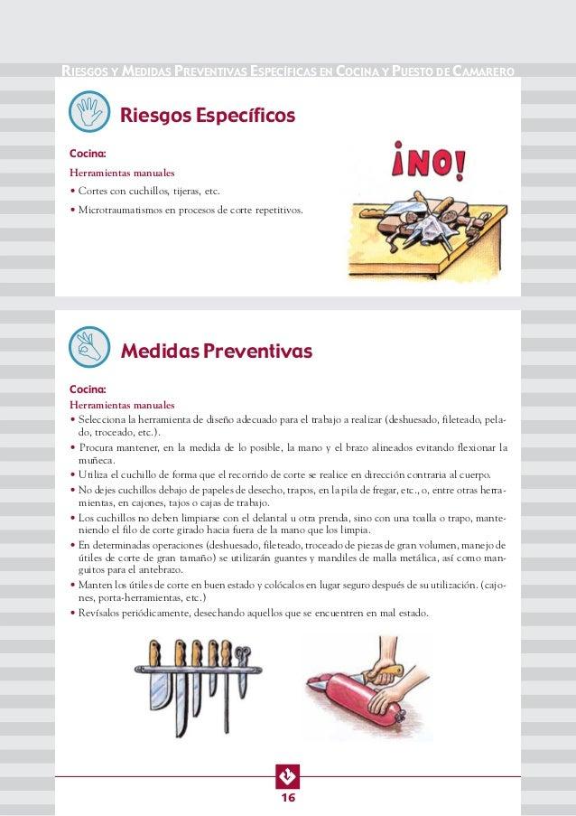 Manual de seg y salud en cocinas bares y restaurantes for Manual de cocina industrial