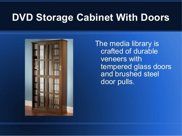 DVD Storage Cabinet With Doors ...
