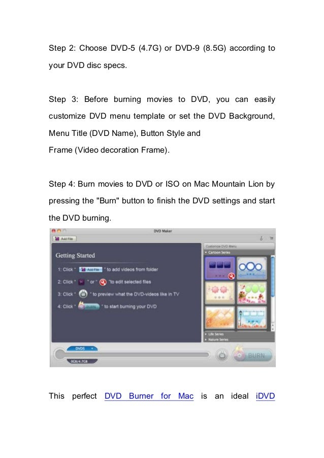 How to Burn DVD on Mac Lion?