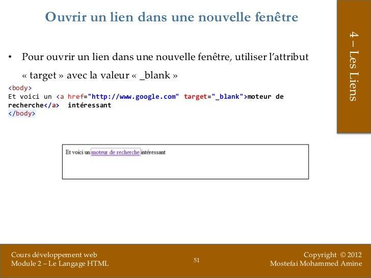 le langage html