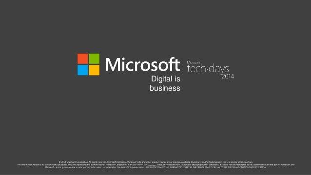 TechDays - Développer une single page application HTML5 - Version longue