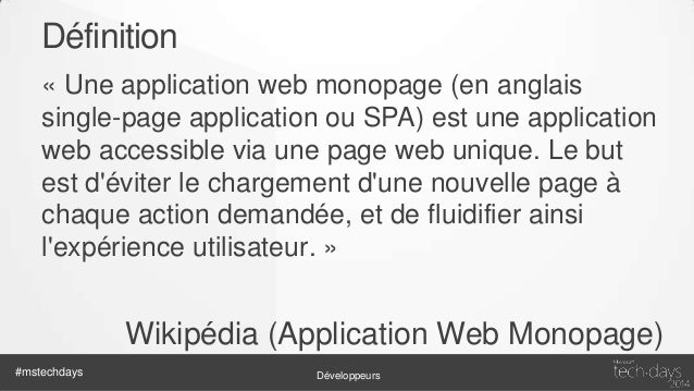 Caractéristiques • Application web = HTML / CSS / Javascript • Gestion des états / de l'historique • Utilisation intensive...