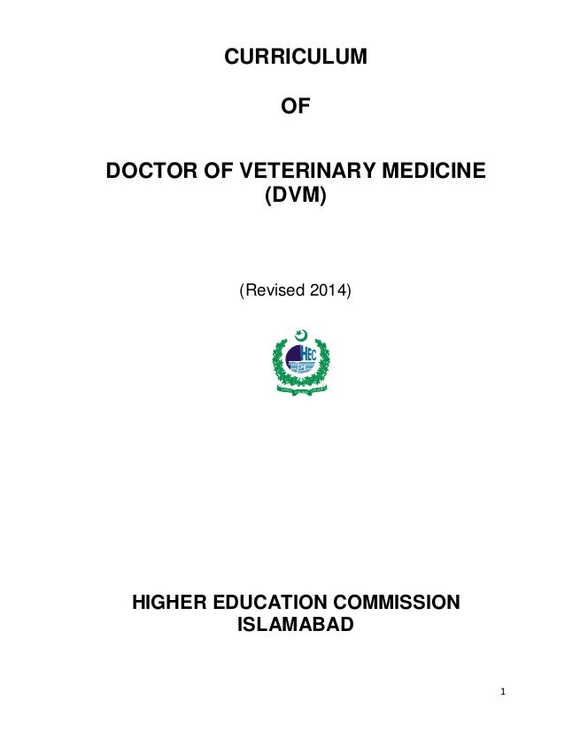 Doctor of veterinary Medicine curriculum-2015 (New)