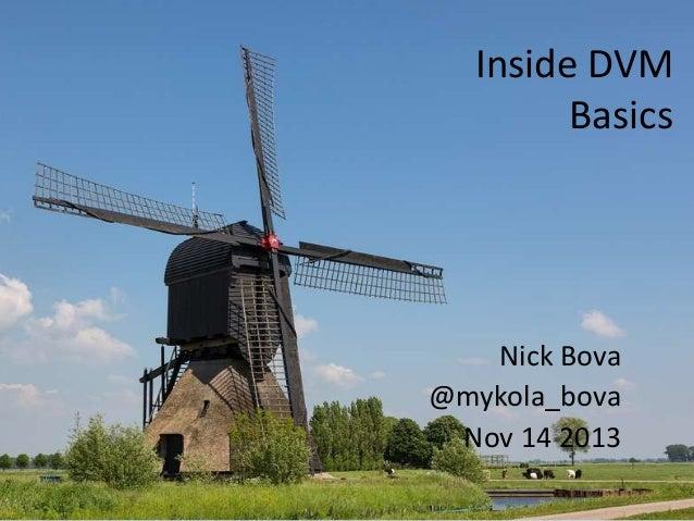 Inside DVM Basics  Nick Bova @mykola_bova Nov 14 2013