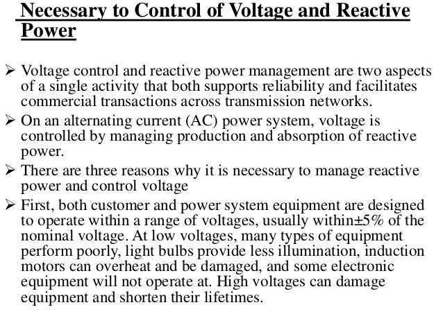 Sources and Sinks of Reactive Power