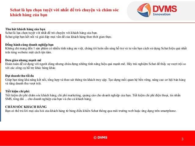 DVMS schat giải pháp chăm sóc và tư vấn khách hàng tuyệt vời Slide 3