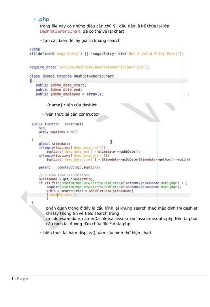 • .php             trong file này có những điều cần chú ý : đầu tiên là kế thừa lại lớp             DashletGenericChart, đ...