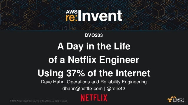 © 2015, Amazon Web Services, Inc. or its Affiliates. All rights reserved. Dave Hahn, Operations and Reliability Engineerin...