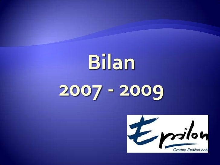 Bilan2007 - 2009<br />