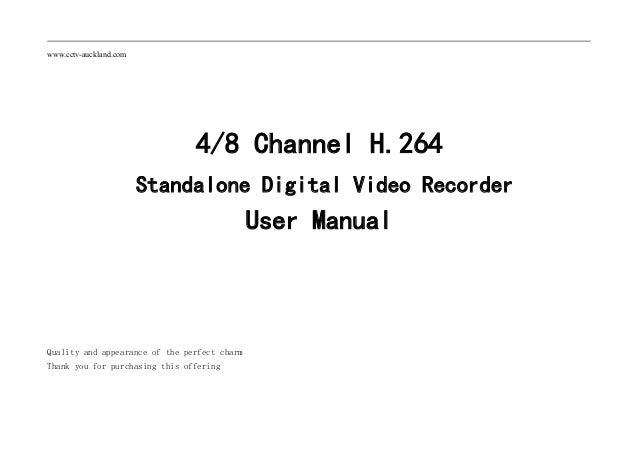 Dvr user manual for 9400 series