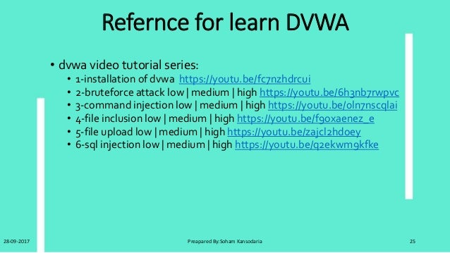 DVWA(Damn Vulnerabilities Web Application)