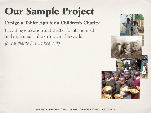Our Sample ProjectDesign a Tablet App for a Children's CharityProviding education and shelter for abandonedand orphaned ch...