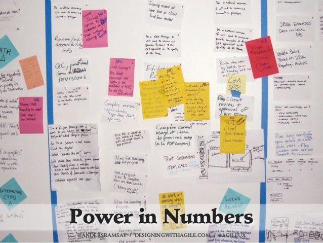 Power in Numbers@ANDERSRAMSAY / DESIGNINGWITHAGILE.COM / #AGILEUX