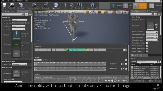 Dynamic Wounds on Animated Characters in UE4