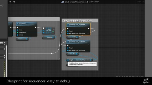 Dynamic wounds on animated characters in ue4 blueprint for sequencer easy to debug malvernweather Images