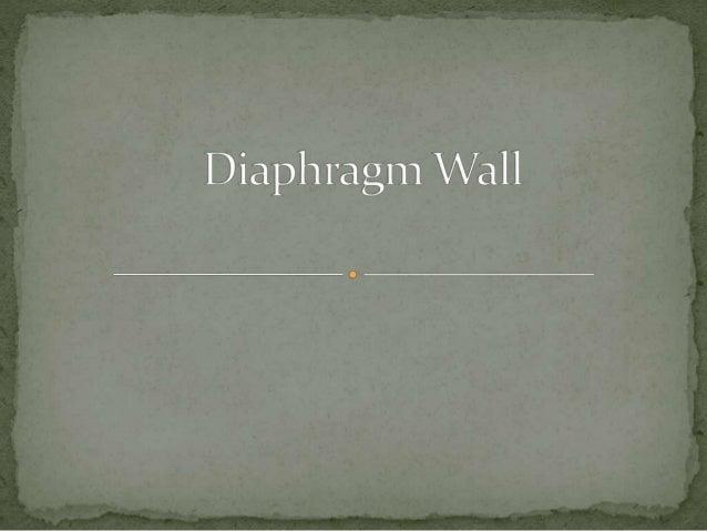 Diaphragm Wall