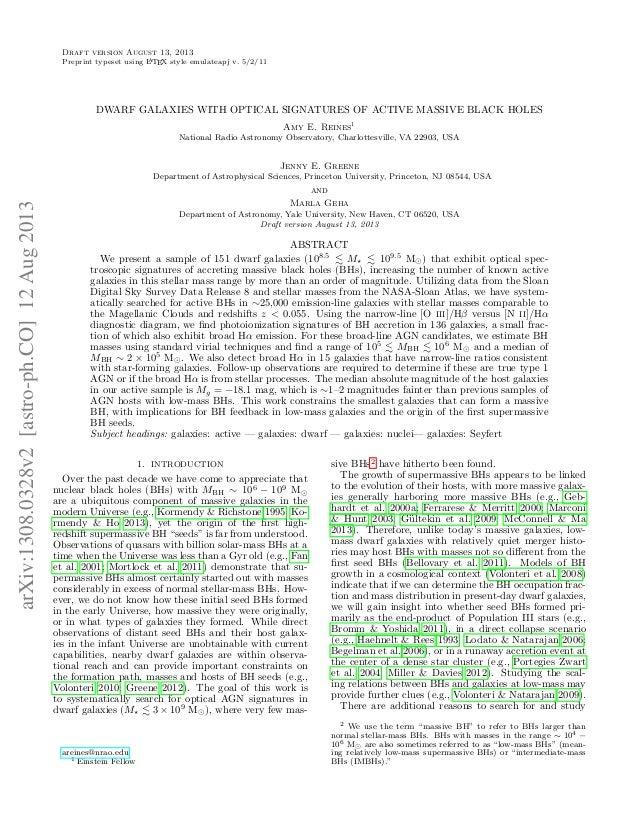 Draft version August 13, 2013 A Preprint typeset using L TEX style emulateapj v. 5/2/11  DWARF GALAXIES WITH OPTICAL SIGNA...