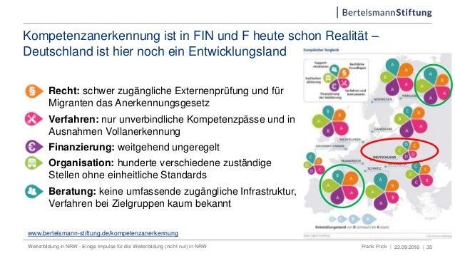 Kompetenzanerkennung ist in FIN und F heute schon Realität – Deutschland ist hier noch ein Entwicklungsland 1. Recht: schw...