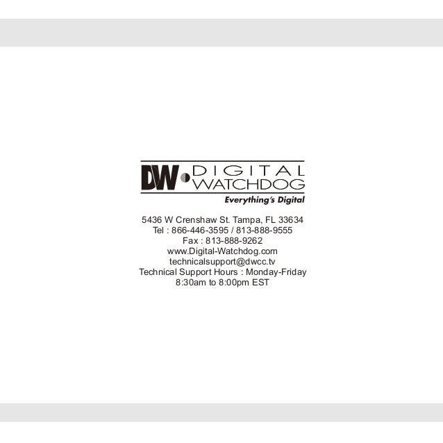 Digital Watchdog DWC-D2367WD User Manual