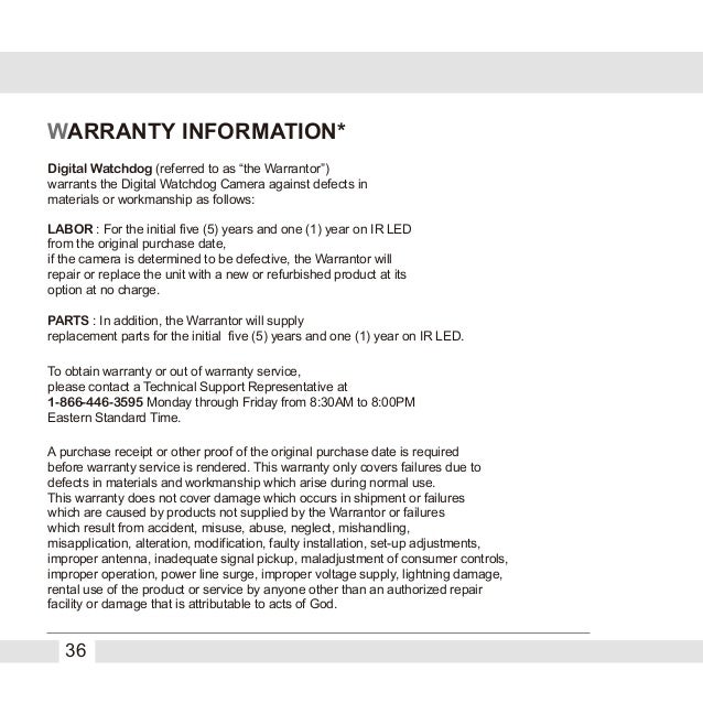 Digital watchdog dwc v4567wd user manual warranty information publicscrutiny Image collections