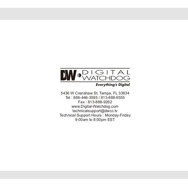 Digital Watchdog DWC-V6361WTIR User Manual