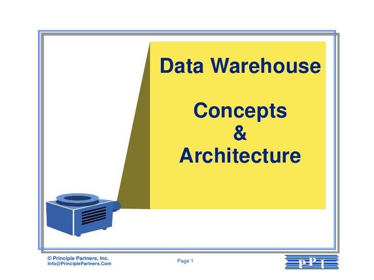 Data Warehouse                               Concepts                                   &                              Arc...