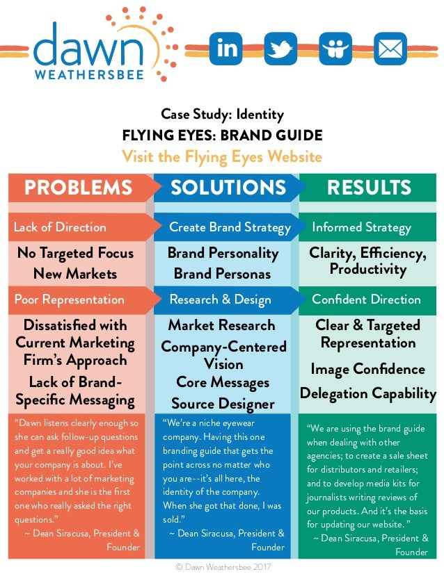 FLYING EYES: BRAND GUIDE Visit the Flying Eyes Website RESULTS Clarity, Efficiency, Productivity Clear & Targeted Represen...