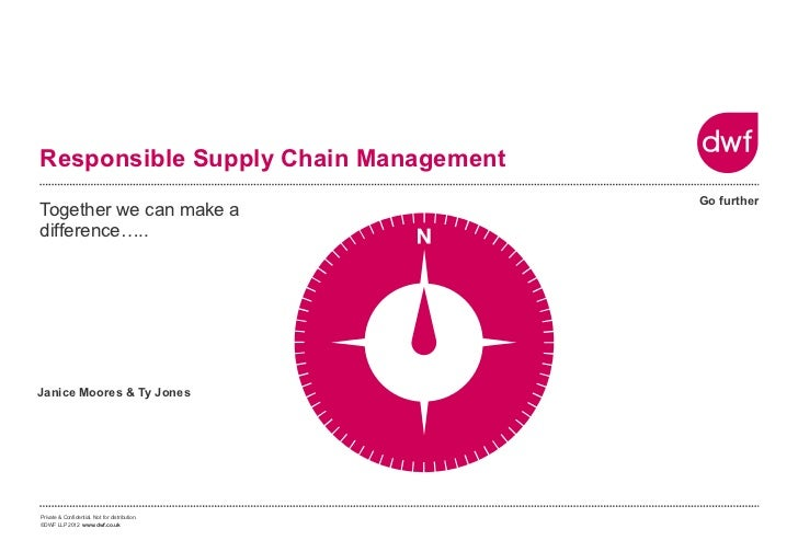 Responsible Supply Chain Management                                                Go furtherTogether we can make adiffere...