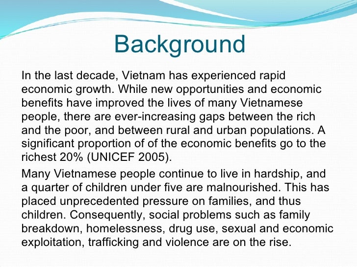 Background In the last decade, Vietnam has experienced rapid economic growth. While new opportunities and economic benefit...