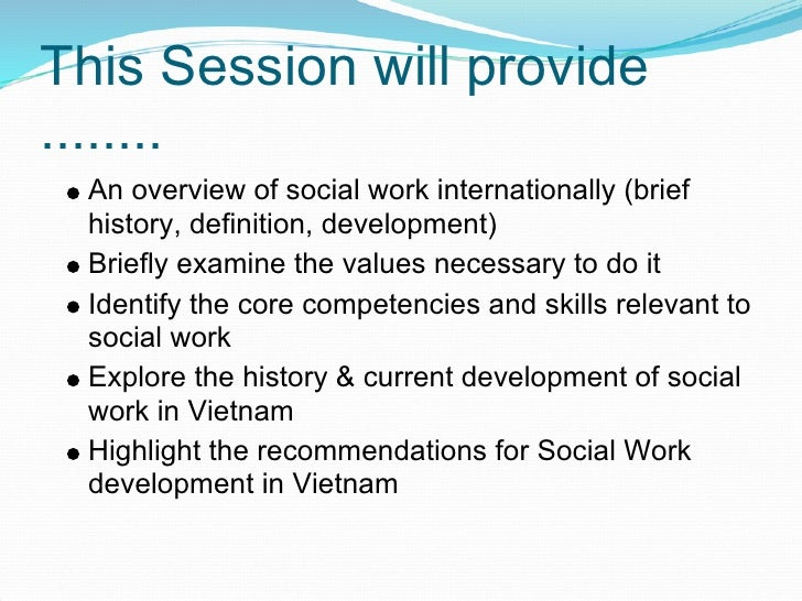understanding social work in the history Throughout its history one of the central tensions has been between the   crucially it fails to understand the nature of 'helping' in social work for many of the .