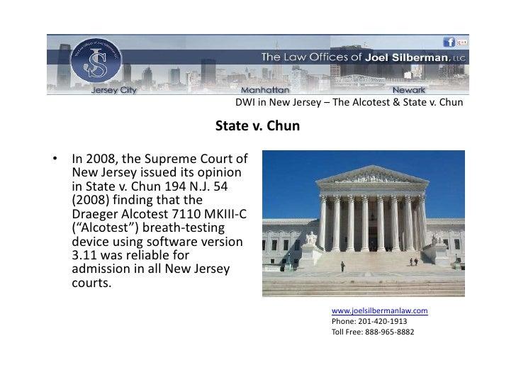 new jersey versus chun dwi case