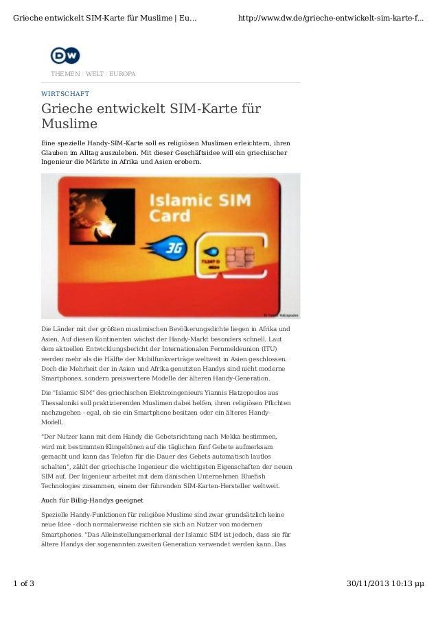 Grieche entwickelt SIM-Karte für Muslime | Eu...  http://www.dw.de/grieche-entwickelt-sim-karte-f...  THEMEN / WELT / EURO...