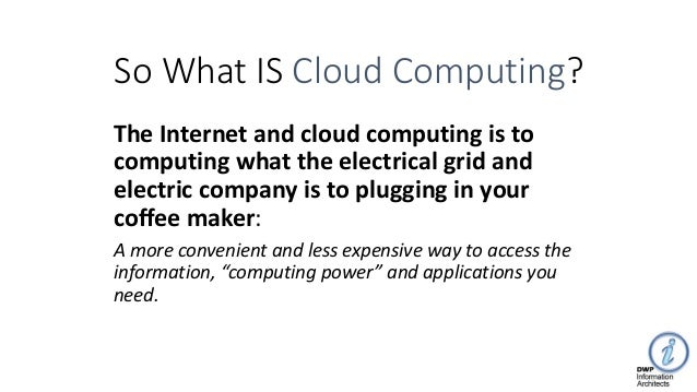 What is the Cloud: and how does it reduce cost by 50%