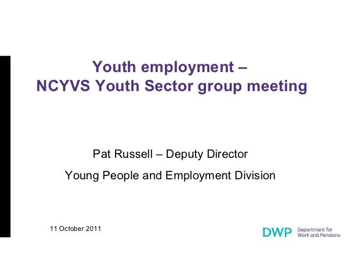 Department for Work and Pensions - Youth Unemployment