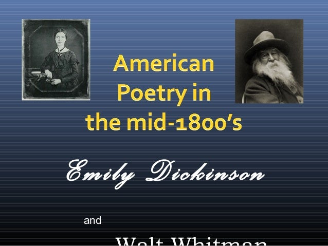 Walt whitman vs emily dickinson essay