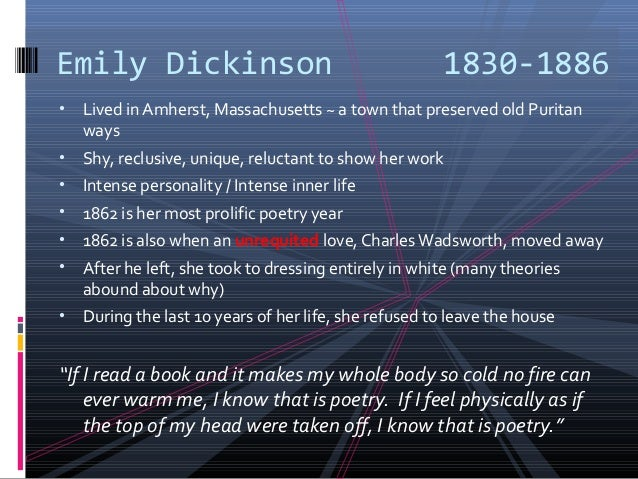 a comparison of the walt whitmans and emily dickinsons poetry Walt whitman, emily dickinson, and the civil war:  because i could not stop for death by emily dickinson - poetry reading - duration: 1:47 pearls of wisdom 89,612 views 1:47.