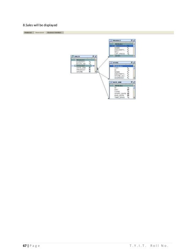 Data Warehousing Practical for T.Y.I.T.