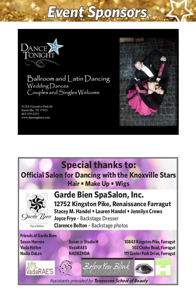 Dancing With The Knoxville Stars 2016 Program